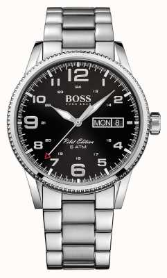 Hugo Boss Gents Pilot Jahrgang Uhr aus Edelstahl 1513327