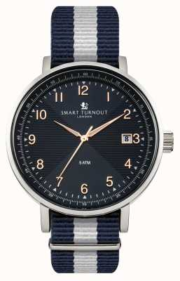 Smart Turnout Scholar Uhr blau mit yale Band STH3/BL/56/W