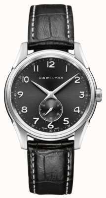 Hamilton Mens Jazzmaster Thinline kleine Sekunde Quarz schwarz H38411783