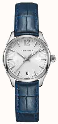 Hamilton Womans Jazzmaster Quarz blaues Leder H42211655