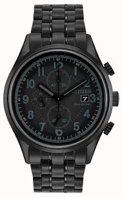 Citizen Mens eco-drive black metal krämer CA0625-55E