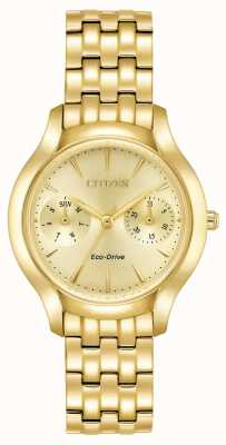 Citizen Womans Eco-Drive Silhouette krämer Gold FD4012-51P