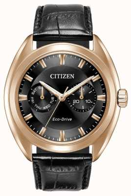 Citizen Mens Eco-Drive paradex schwarzem Leder BU4013-07H