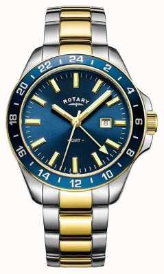 Rotary Herren Havanna gmt zwei Ton blau GB05082/05
