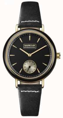 Barbour Dovedale schwarzes Leder für Damen BB061BKBK