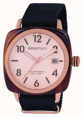 Briston Herren Clubmaster Classic Acetat Roségold 14240.PRA.T.6.NB