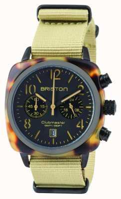 Briston Mens Clubmaster klassische Acetat Chronograph Safari 14140.PBAM.TS.5.NK