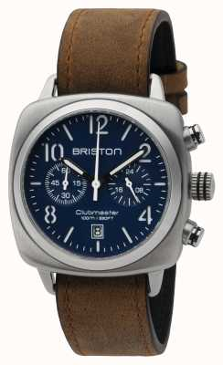 Briston Mens Clubmaster klassischen Stahl chrono matt blau 16140.S.C.15.LVBR