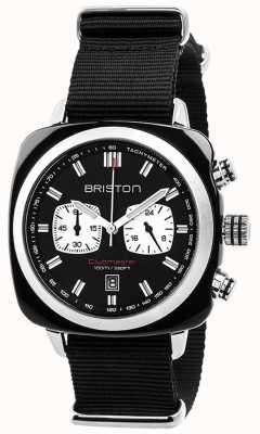 Briston Mens Clubmaster-Sport-Acetat Chrono schwarz 17142.SA.BS.1.NB