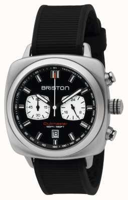 Briston Mens Clubmaster-Sport Stahl chrono schwarz 16142.S.SP.1.RB