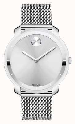 Movado Bold mittelgroßen Edelstahlgewebe Armband Kristall k1 3600241