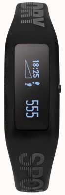 Superdry Unisex Fitness Tracker schwarz Silikonarmband SYG202BB