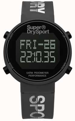 Superdry Unisex digi Pedometer grau Silikonband SYG203E