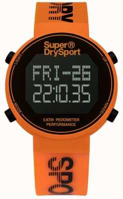 Superdry Unisex digi Pedometer Orange Silikonband SYG203O
