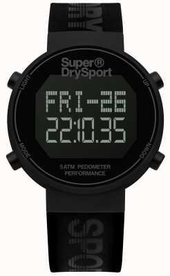 Superdry Unisex digi Pedometer schwarz Silikonarmband SYG203BB