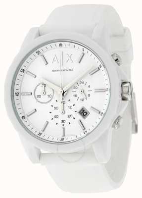 Armani Exchange Herren aktiver weißer Chronograph Silikon AX1325