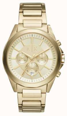 Armani Exchange Mens Gold getönten Chronographen AX2602