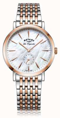 Rotary Womans swiss made windsor zwei Töne Perlmutt LB90191/41