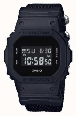 Casio Herren G-Shock Black Out Tuch Gurt DW-5600BBN-1ER