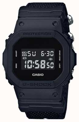Casio Schwarzer G-Shock Stoffgurt für Herren DW-5600BBN-1ER