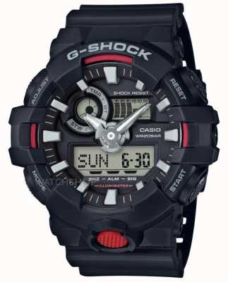 Casio Mens g-shock Alarm-Chronograph schwarz GA-700-1AER