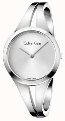 Calvin Klein Womans süchtig Edelstahl Silber Armreif K7W2S116
