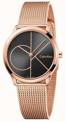 Calvin Klein Minimales Roségold-Mesh-Armband für Damen K3M22621