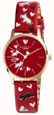 Radley Womans roter Hund Band gedruckt RY2474