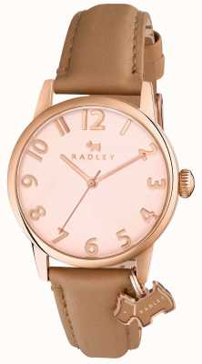 Radley Womans liverpool Straßenlaterne braunes Lederarmband RY2458