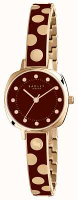 Radley Womans Kennington Spot Emaille weinrot RY4274