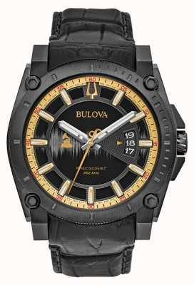 Bulova Sonderausgabe grammy Precisionist schwarzem Leder 98B293