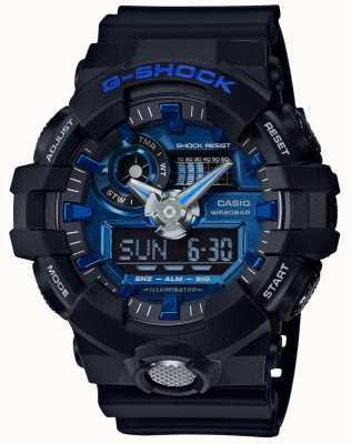 Casio Mens g-shock Alarm-Chronograph blau GA-710-1A2ER
