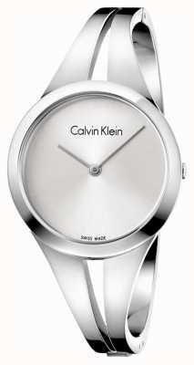 Calvin Klein Womans süchtig Stahl Armreif Silber Zifferblatt m K7W2M116