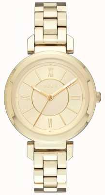 DKNY Womans Ellington Stahl goldene Uhr NY2583