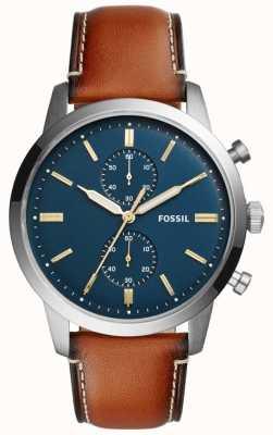 Fossil Herren Townsman Chronograph braunes Leder FS5279