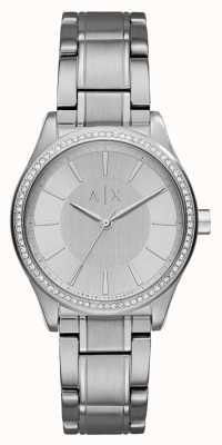 Armani Exchange Womans Stahl Silber Kleid Uhr AX5440