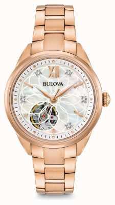 Bulova Frauen automatische Diamant Uhr 97P121