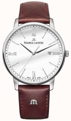 Maurice Lacroix Eliros Herren braunes Lederbanduhr EL1118-SS001-113-1
