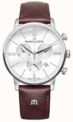 Maurice Lacroix Eliros Herren Chronograph braunes Leder EL1098-SS001-112-1