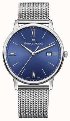 Maurice Lacroix Mens eliros Armband Maschenband blau EL1118-SS002-410-1