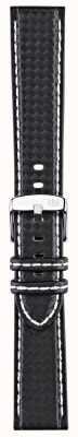Morellato Strap only - Biken Techno schwarz / weiß 22mm A01U3586977817CR22