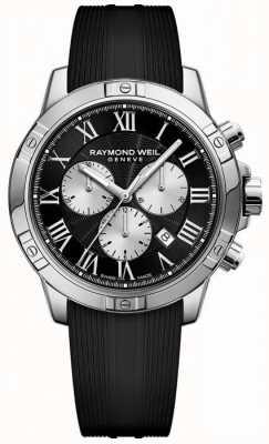 Raymond Weil Mens Tango Chronograph schwarz 8560-SR-00206