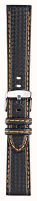 Morellato Strap only - Fahrrad Techno schwarz / orange 18mm A01U3586977886CR18