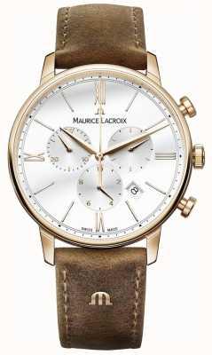 Maurice Lacroix Mens eliros Chronograph braunes Kalbslederband EL1098-PVP01-113-1