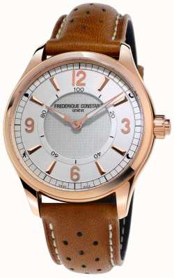 Frederique Constant Herren horologisches smartwatch bluetooth braunes Lederband FC-282AS5B4