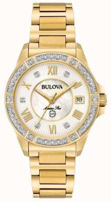 Bulova Marinestern-Diamantgoldton der Frau 98R235