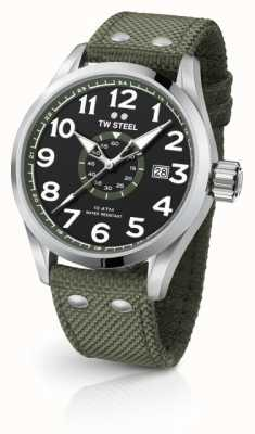 TW Steel Mens Volante Armee grün 45mm VS21