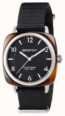 Briston Unisex Clubmaster Chic schwarz Acetat Stahl mit NATO-Band 17536.SA.T.1.NB