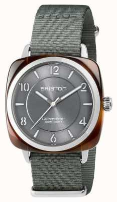 Briston Unisex Clubmaster Chic Grau Acetat Stahl mit Nato-Armband 17536.SA.T.11.NG