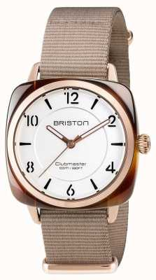 Briston Unisex Clubmaster schick beige Acetat pvd Roségold 17536.PRA.T.2.NT